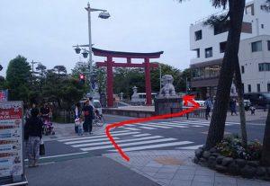 鎌倉駅から鶴岡八幡宮